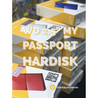 全新行貨- Western Digital WD My Passport 1/ 2/ 4TB HDD 外置硬盤