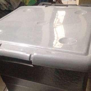 Plastic Box 25 Liters Black Stackable Organizer Deco Box