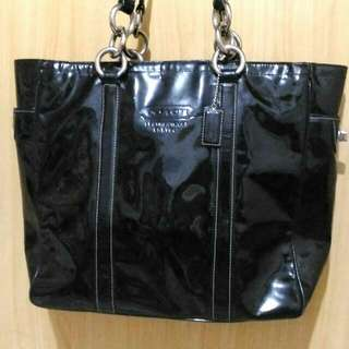 Repriced From 1,800 - Authentic Coach Patent Leather Office Bag