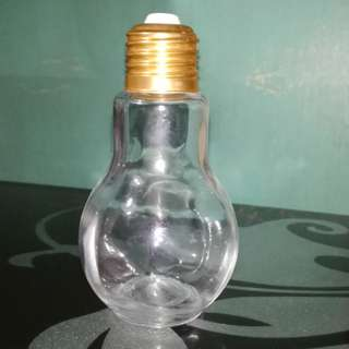 Bulb Bottle Container Glass Jar