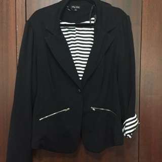City Chic Striped Lining Blazer - Size L