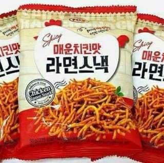 🐔🐔辣味炸雞點心麵🐔🐔  🌟內容量:50G🌟 3包一組110