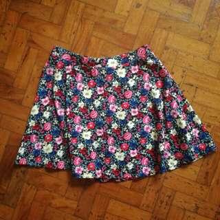 🌻Forever 21 Floral Skater Skirt