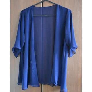 Plain Blue Kimono