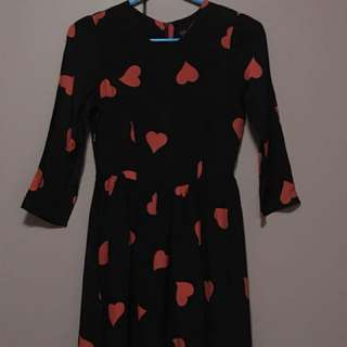 Heart-Patterned Dress