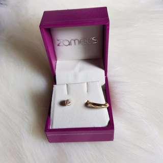 9ct solid yellow gold hoop & stud earrings - NEW