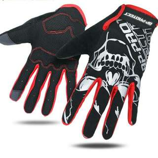 🆕! Skeleton ☠ full finger protective touch screen gloves