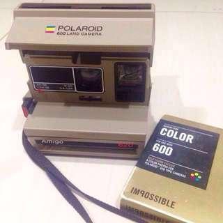 POLAROID 600 LAND 寶麗來 拍立得相機(特別版)+金框底片一盒