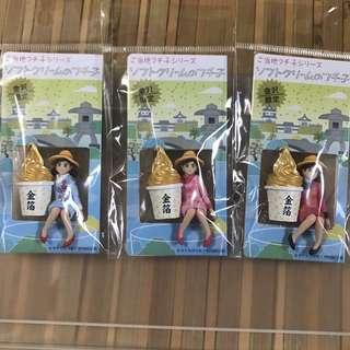 日本 扭蛋 杯緣子 地區限定 金箔 金沢 玩具