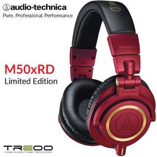 Audio-Technica ATH-M50xRD RED Limited Edition Studio Headphones