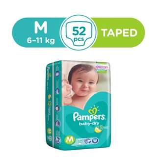 Pampers baby dry size M