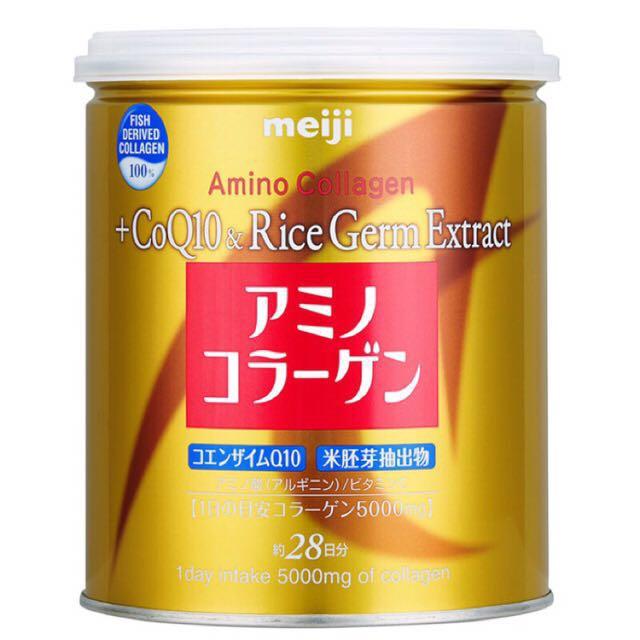 限時特賣—明治膠原蛋白粉奢華版-璀璨金罐裝200g