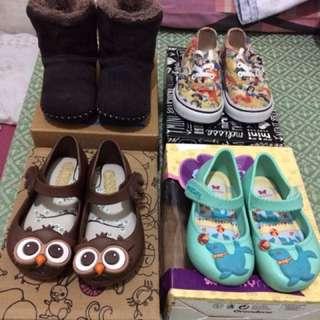 Baby shoes mini melissa..vans Disney.. zaxy nina ..little blue lamb