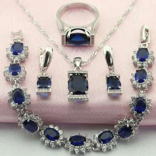 Luxury Jewelry set 925 Silver jewelry set