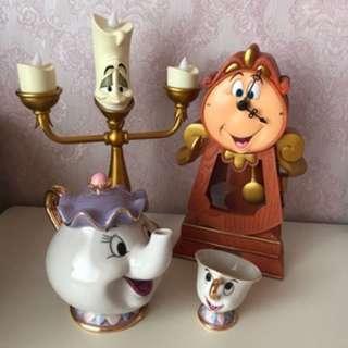 美女與野獸 茶煲太太 茶壺太太 水杯