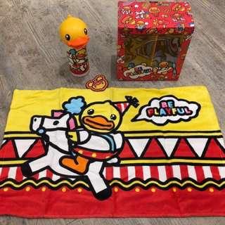 B Duck 正貨保暖瓶及毛巾禮盒