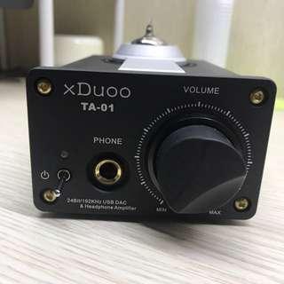 超靚聲! xDUoo 小型膽機 TA-01 包電腦線及電源線 99% New!