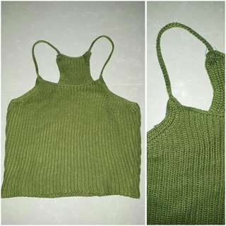 CROP TANK TOP RIBBED