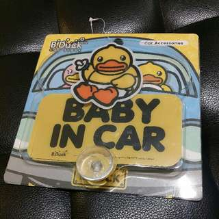 全新 B Duck Car Signs Baby In Car