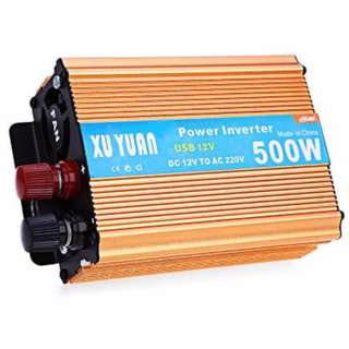 500W DC 12V TO AC 220V VEHICLE POWER INVERTER WITH USB CHARGING PORT