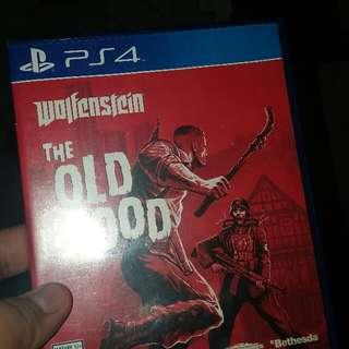 Ps4 Game Wolfenstein Old Blood