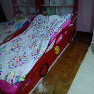 Kids Car Shaped Bed & King Koil Mattress