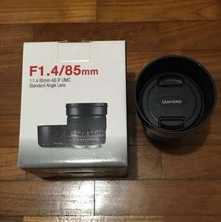 Samyang 85mm f/1.4 AS IF UMC Lens for Sony E Mount