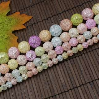 Colorful crystal ice flower colour crystal DIY handmade jewelry beads