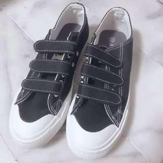無印風魔鬼氈小黑鞋