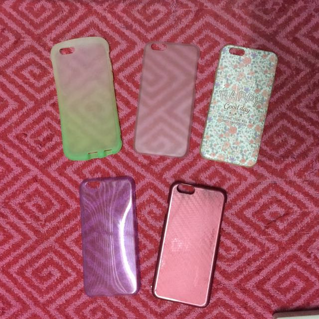 5 pcs iphone 6/6s case for only 120php
