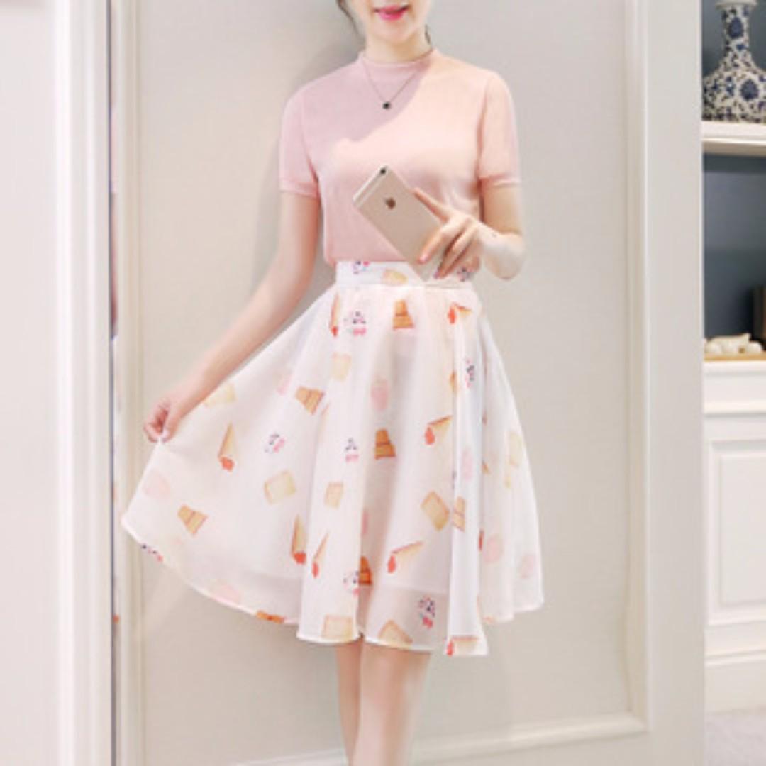 名媛兩件式短袖裙裝