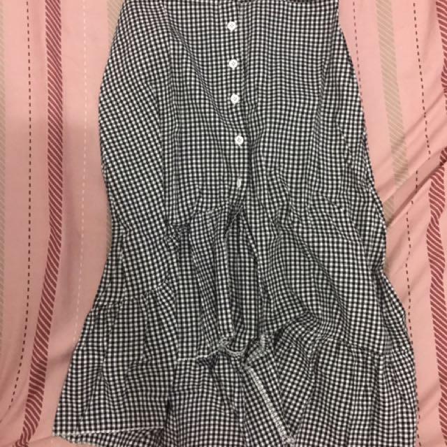 格紋魚尾裙、洋裝