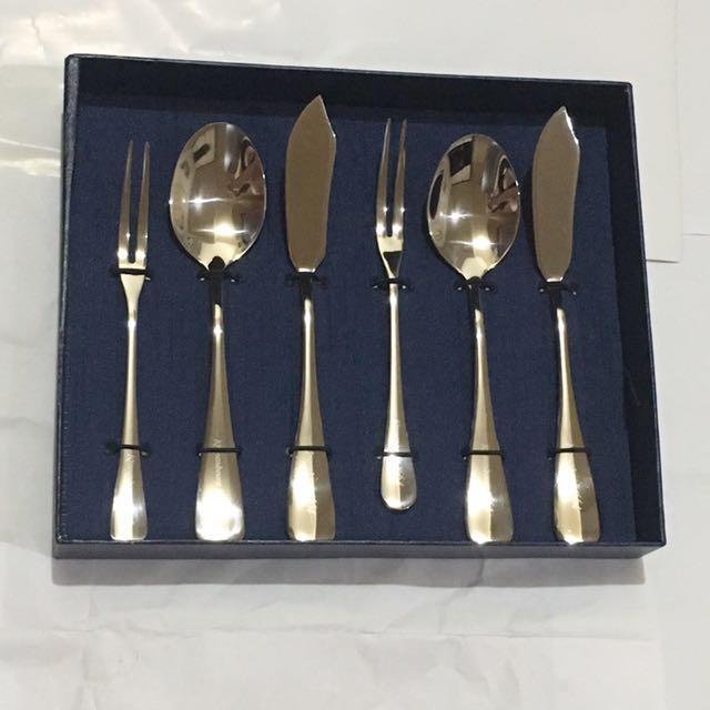 法國可倫堡白六件組餐具