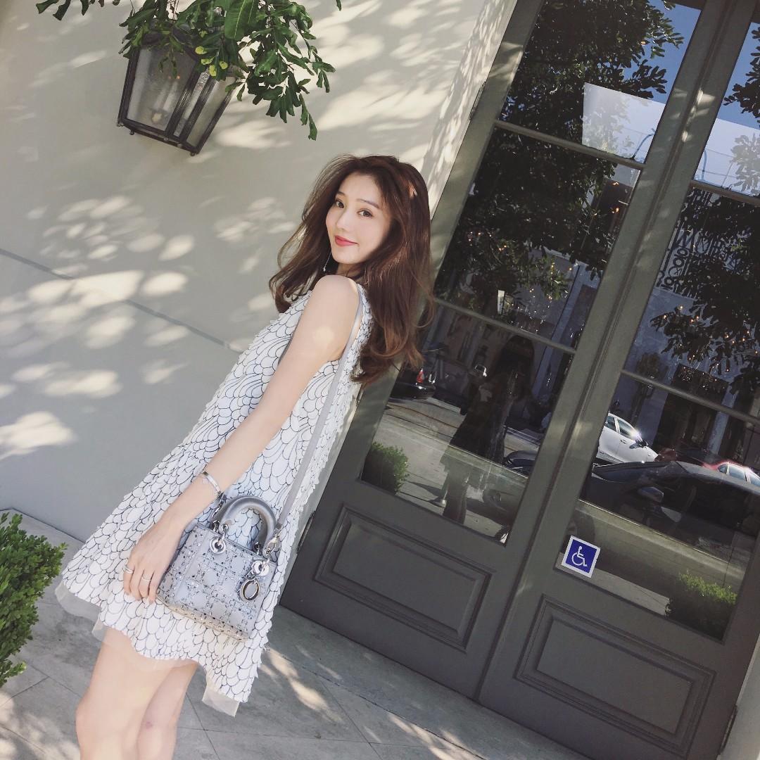 法國品牌重工羽毛刺繡背心洋裝