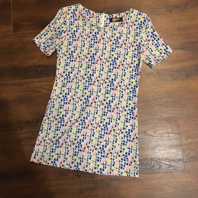 韓版 幾何洋裝