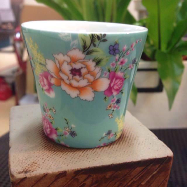 陶瓷茶杯 電花方式 直徑7.5高3.5公分