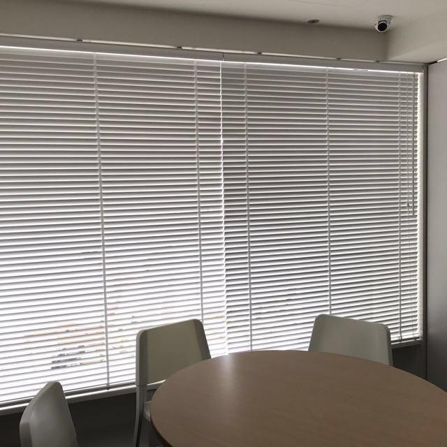 可議 木百葉 白色 寬105公分 高126公分 寬度可以改小