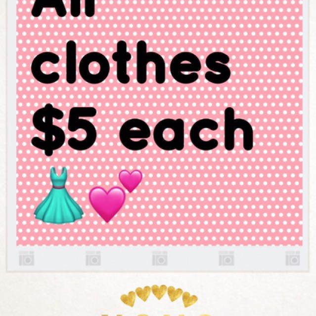 All Clothes $5 Each