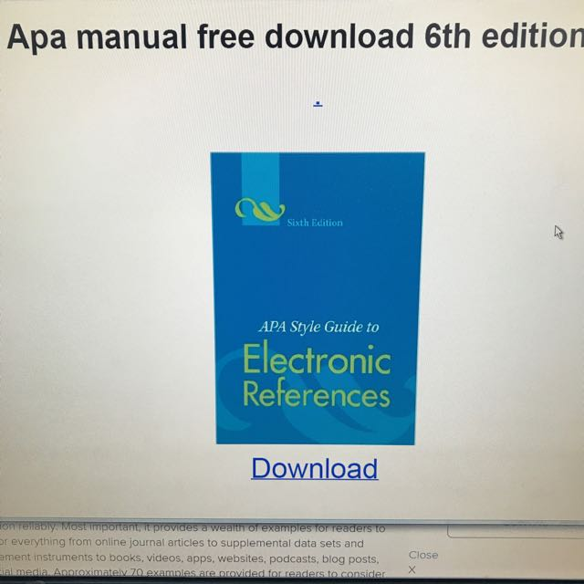 apa style guide to electronic references 6th edition