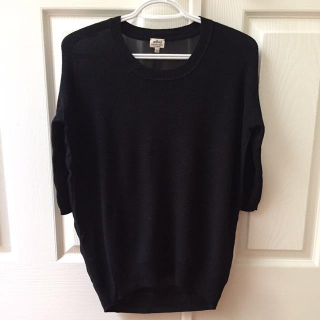 Aritzia Wilfred Black Sweater