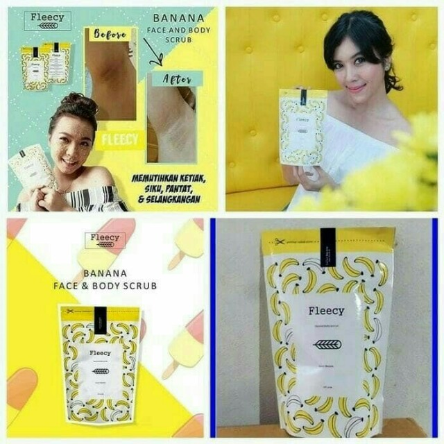 Banana Original Face N Body Scrub Fleecy