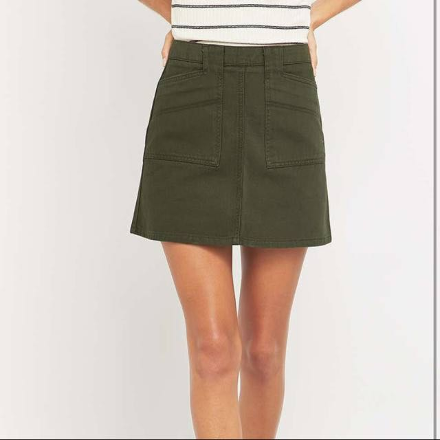 BDG Utility A-line Mini Skirt