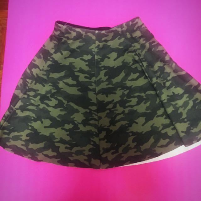 Bershka camouflage mini skirt