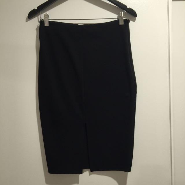 Black Boutique Midi Skirt