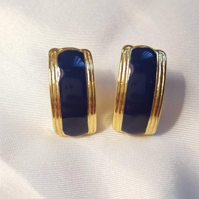 Blue And Gold Earings