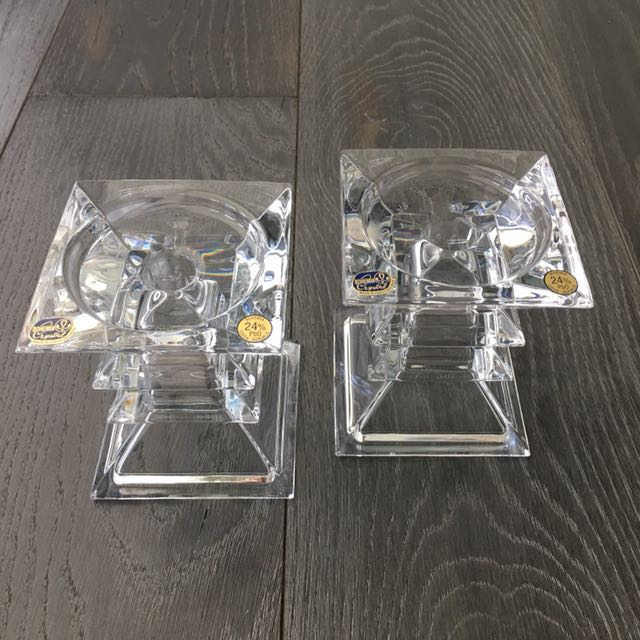 Bohemia Crystal Candle Holders