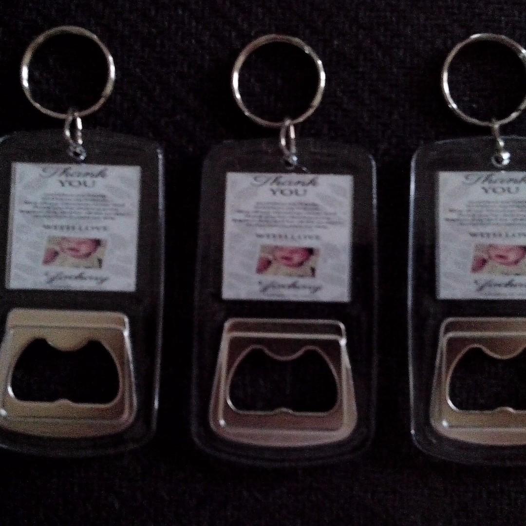 Bottle Opener Keychain Soiuvenirs Giveaways for wedding,baptismal,birthday,christening