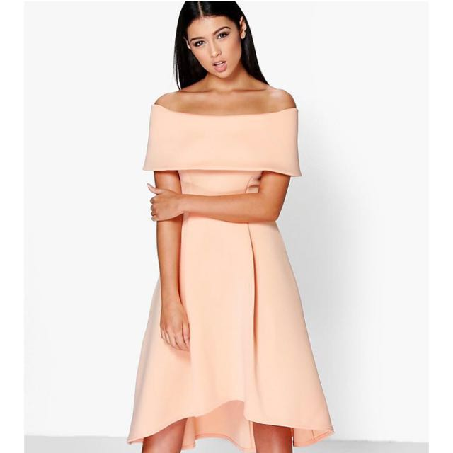 BRAND NEW** Boohoo Off the Shoulder Skater Dress