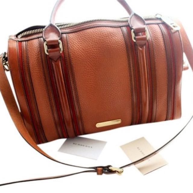 Brand New Burberry Women's Brown Alchester Bowling Bag