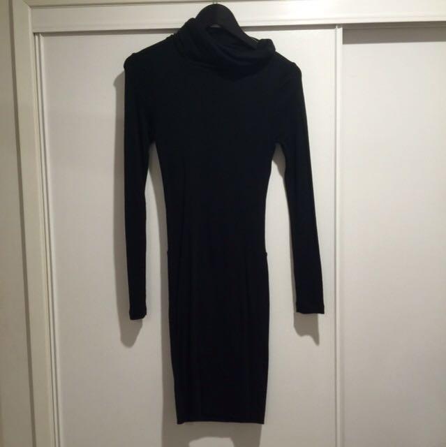 BRAND NEW Kookai Black Turtleneck Dress